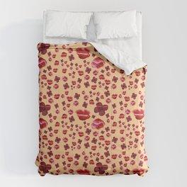 Red Poppies on orange Comforters