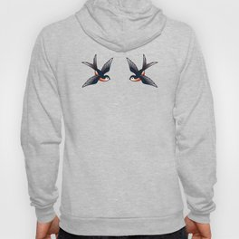 Vintage Tattoo Style Swallows Hoody