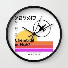 Chemtrail Cruel†y Wall Clock