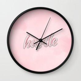 Hustle Pink Wall Clock