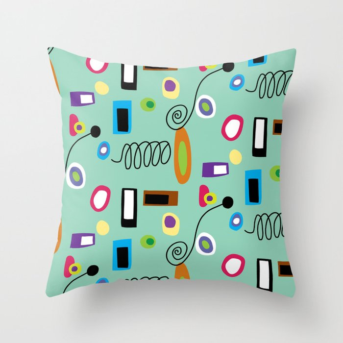 Mod Abstract Green Throw Pillow