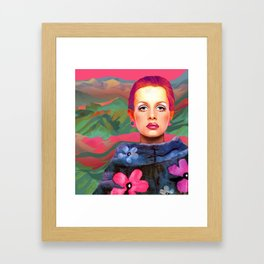 """She was always a Pop Girl (Twiggy)"" Framed Art Print"