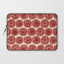 flower block red ivory Laptop Sleeve