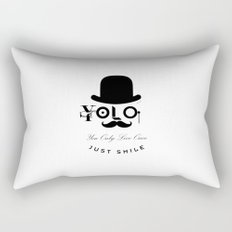 YOLO : You Only Live Once - Just Smile Rectangular Pillow