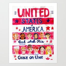United States of America: God Shed His Grace on Thee Art Print
