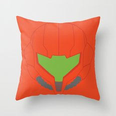 Metroid Helmet - Minimalist - Nintendo Throw Pillow