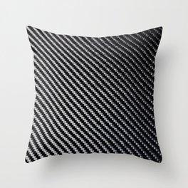 Carbon Fiber texture Throw Pillow