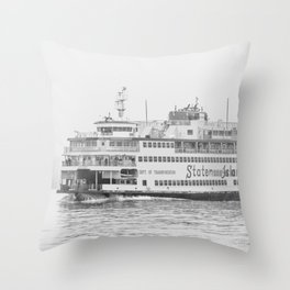 The Boat (Staten Island Ferry) Throw Pillow
