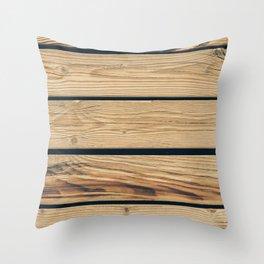 Wooden planks Throw Pillow