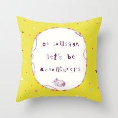 Adventurers Throw Pillow
