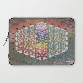 Sacred geometry chakras Laptop Sleeve
