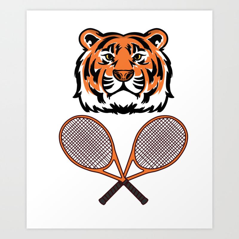 Tennis Funny Gift Sports Game Cool Fun Humor Art Print By Alsterdesignumzu Society6