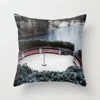 oslo Throw Pillows featuring Oslo by Infra_milk