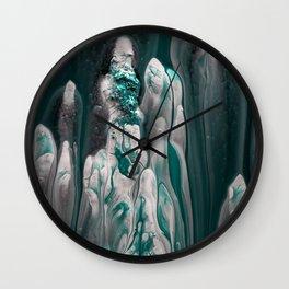 Melting Emerald Wall Clock