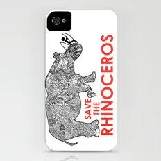 Save the Rhino Slim Case iPhone (4, 4s)