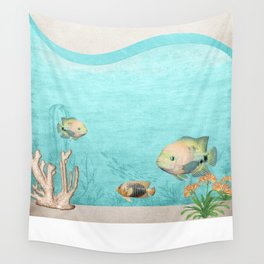 under the ocean seascape Wall Tapestry