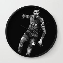 Trent Alexander Arnold on Black and White Pop Art Portrait Wall Clock