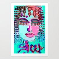sleep Art Prints featuring sleep by sladja