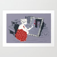 mirror Art Prints featuring mirror by liva cabule