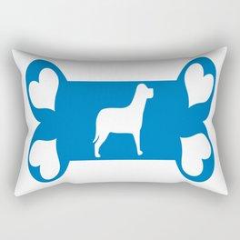 I Love my Dog Rectangular Pillow