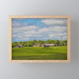 Jumbled Abandoned Farm, Burleigh County, North Dakota 2 Framed Mini Art Print