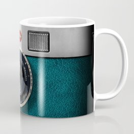 Blue Teal retro vintage camera with germany lens Coffee Mug