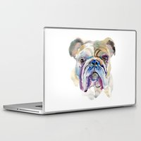 bulldog Laptop & iPad Skins featuring Bulldog by coconuttowers