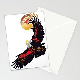 Eagle Soaring at Sunrise  Stationery Cards