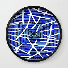 Jazz Trumpet Blue  Wall Clock