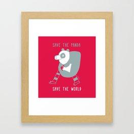 cuore di panda Framed Art Print
