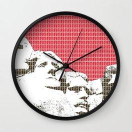 Mount Rushmore - Red Wall Clock