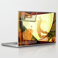 basketball Laptop & iPad Skins featuring Basketball by Robin Curtiss