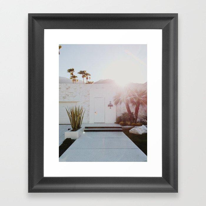 Palm Springs Sunset Framed Art Print By Jacbo Society6