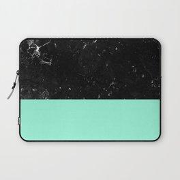 Mint Meets Black Marble #1 #decor #art #society6 Laptop Sleeve