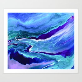 Dreamy Fluid Abstract Painting Art Print