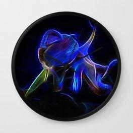Octopus Neon Octopus 010920 Wall Clock