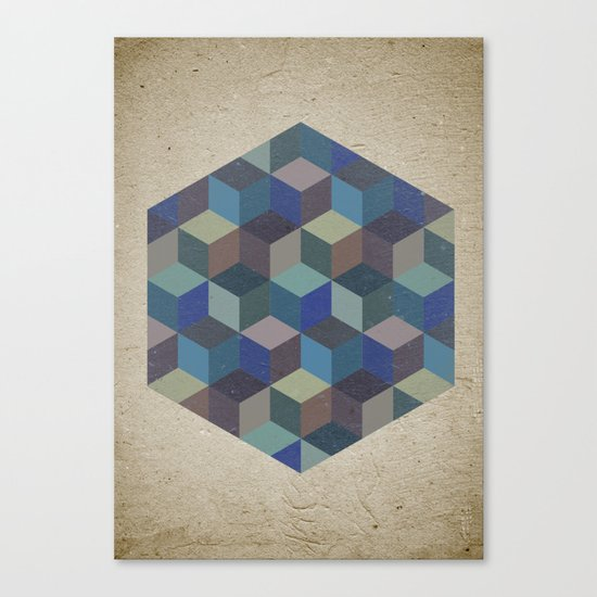Dimension in blue Canvas Print