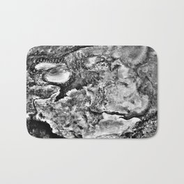 Lands Unknown Black and White Bath Mat