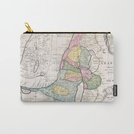 Old 1750 Historic State of Palestine Map Carry-All Pouch