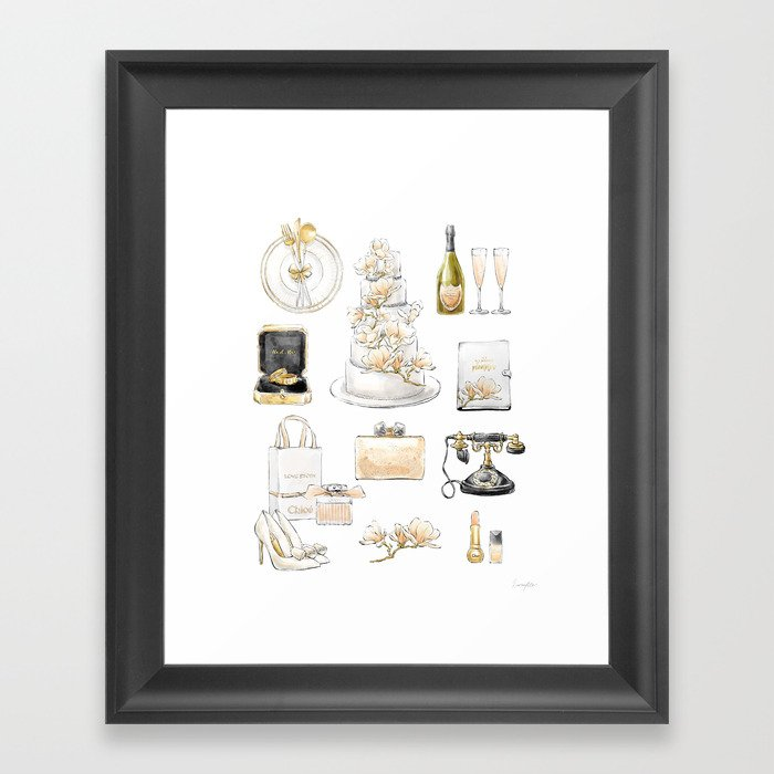 Wedding Accessories List Framed Art Print