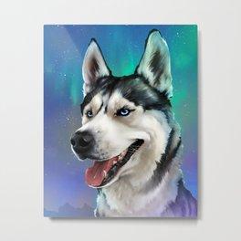 Mystical Siberian Husky Metal Print