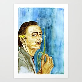 Dali Dandelion Art Print