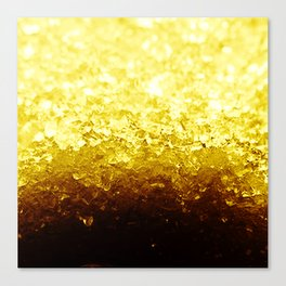 Golden Yellow Ombre Crystals Canvas Print