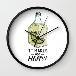 It makes me Happy! Wall Clock