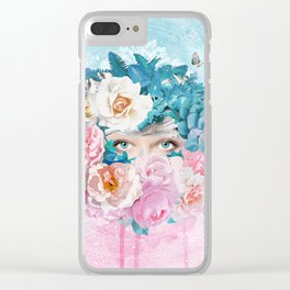 FLORAL EVA Clear iPhone Case