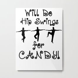 Ballet Barre Workout Dance for Candy Metal Print