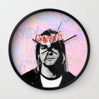 kurt rahn Wall Clocks featuring Kurt..  by pinkundaztood