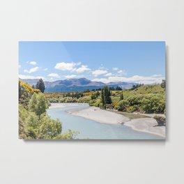 Shotover River, Queenstown, New Zealand Metal Print