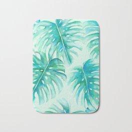 Paradise Palms Mint Bath Mat