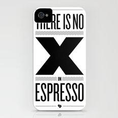 No X in Espresso – Black Slim Case iPhone (4, 4s)